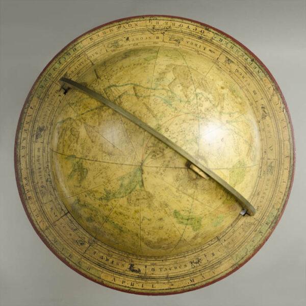 Josiah Loring 12-Inch Celestial Globe, top
