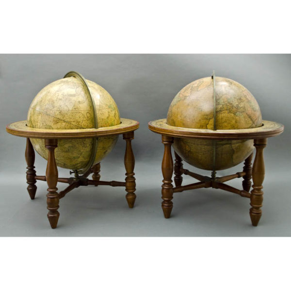 Josiah Loring Pair of 12-inch Terrestrial and Celestial Table Globes