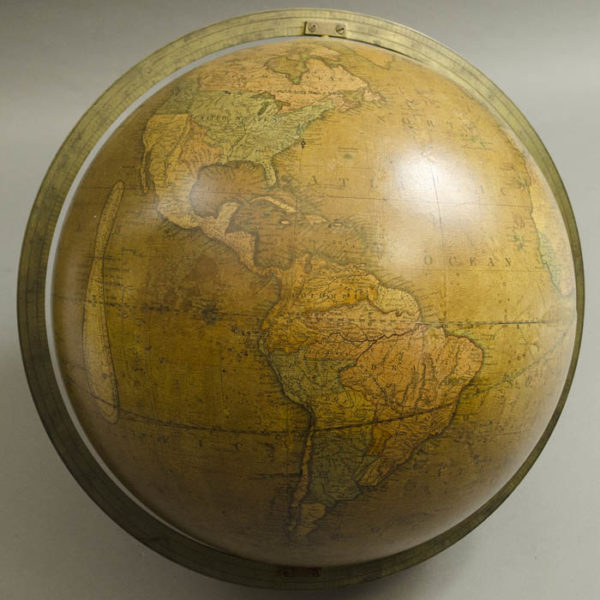 Josiah Loring 12-Inch Terrestrial Globe, North America and South America
