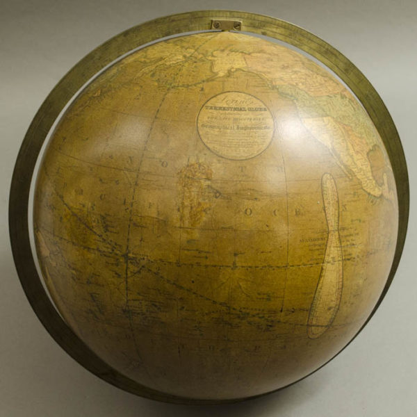Josiah Loring 12-Inch Terrestrial Globe, Pacific Ocean