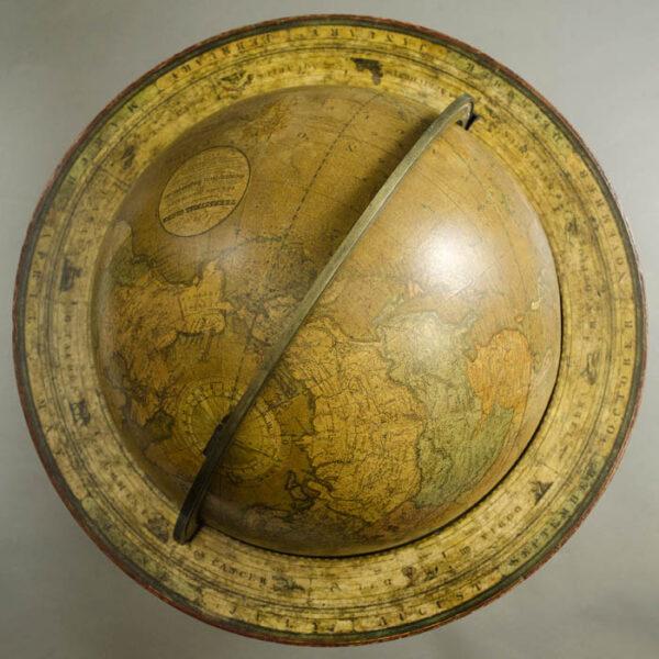 Josiah Loring 12-Inch Terrestrial Globe, top