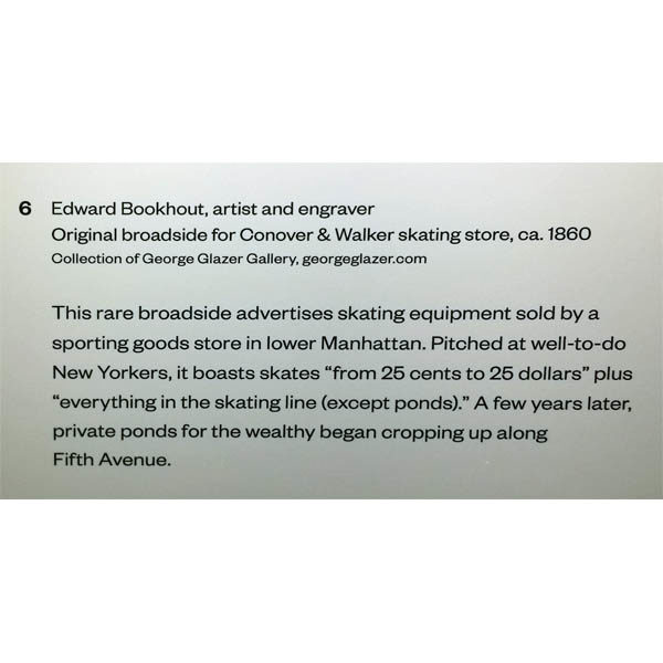 Wall label for broadside at the Museum of the City of New York