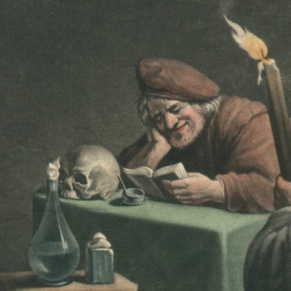Detail, Philosopher Laughing at Magick