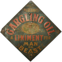 Merchant's Gargling Oil Advertising Sign