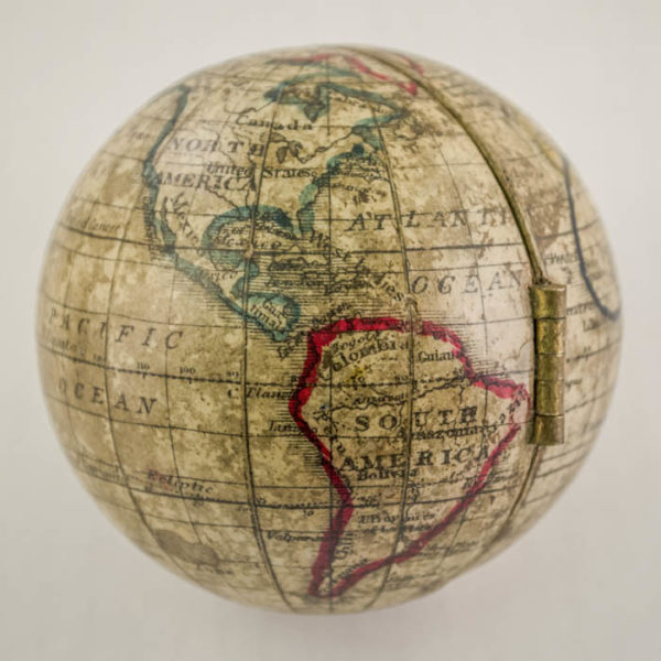 Holbrook Apparatus Mfg. Co. 3-inch Terrestrial Hemispheric Pocket Globe