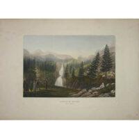 Cascade du Bousseès, Val de Gerret [Waterfall of Bousseès, Vale of Gerret] Plate 21. Piringer (engraver).