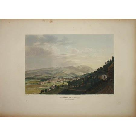 Bagnères de Bigorre, Hautes Pyrénées [Town of Bagnères-de-Bigorre, Pyrenees] Plate 37. F. Salathé (engraver).