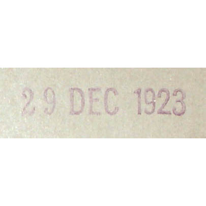 Date stamped verso [enlarged view].