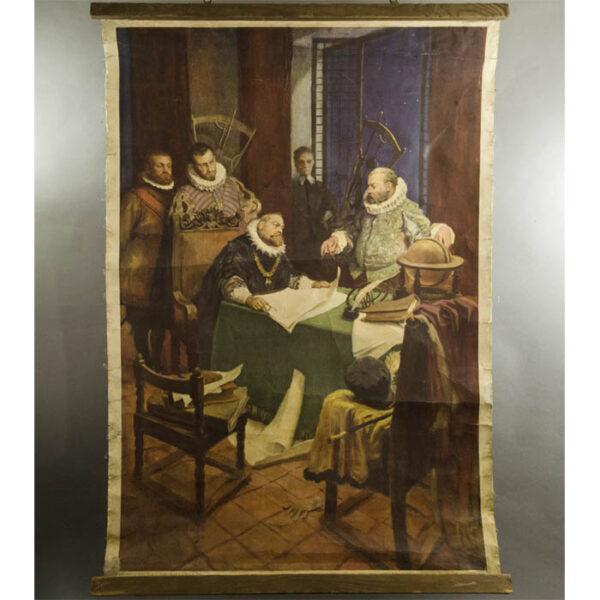 Rudolf II and Tycho Brahe poster