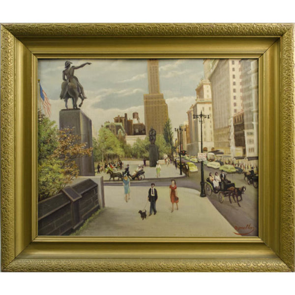 Plaza, Central Park South, Painting by John Agnello
