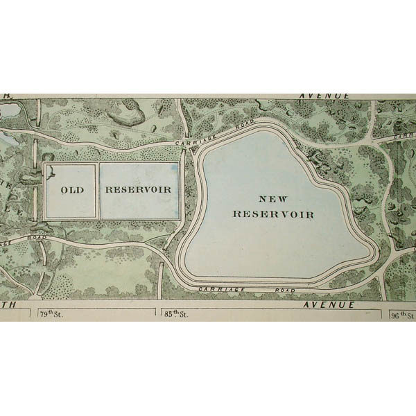 Plan of the Central Park, City of New York, 1860 D.T. Valentine's Manual