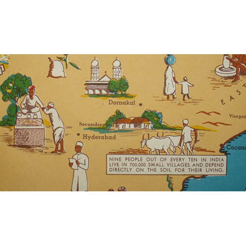 India: A Friendship Map, detail