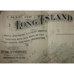 Map of Long Island Based Upon Recent U.S. Coast Surveys