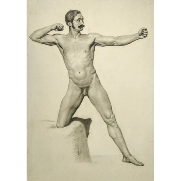 Male Nude, Archer Pose