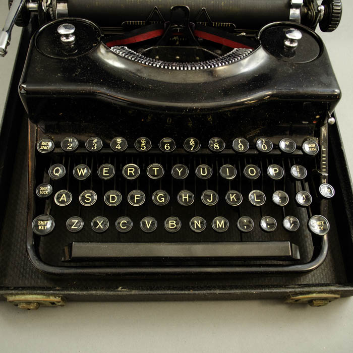 Desk Object, Typewriter, Remington Portable, Vintage, c  1930s, Prop
