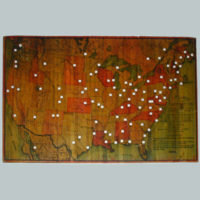 Norris' Map of the United States of America together with adjacent portions of the Dominion of Canada and the United States of Mexico [Zylo-Karta Games]