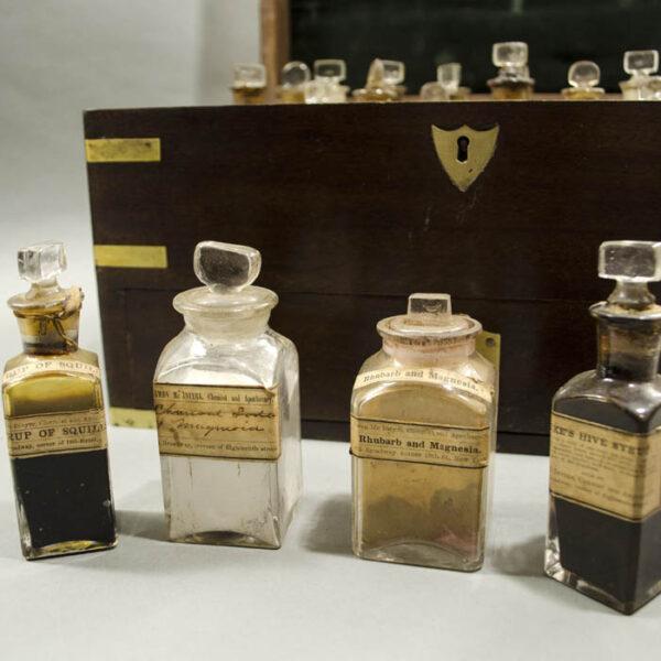 Portable Apothecary Cabinet, mahogany box