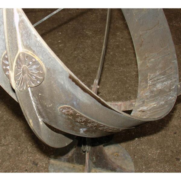 Bronze Armillary Sundial, detail
