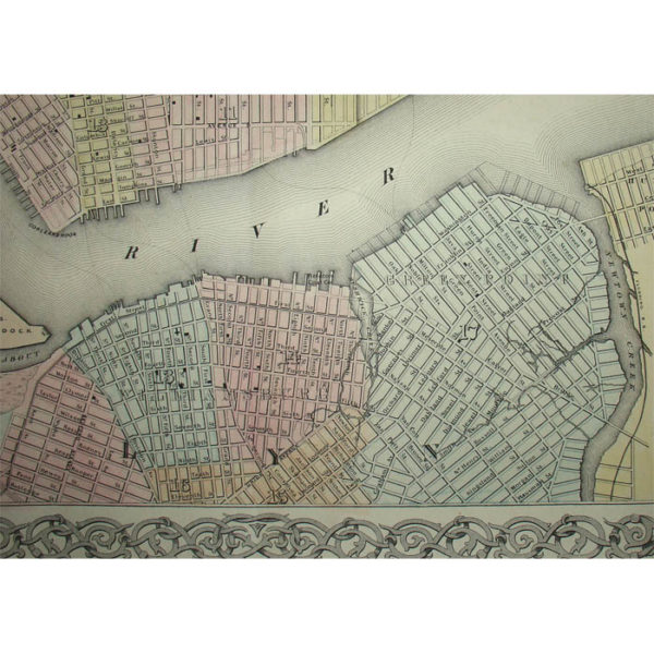 Colton, Map of New York and the Adjacent Cities