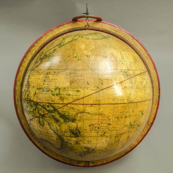 Charles-François Delamarche, 13-inch Terrestrial Table Globe, detail