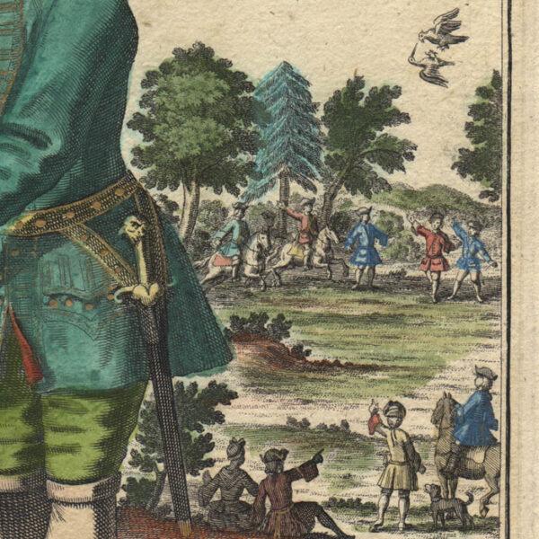 Detail, Pugnax Praedamque Parans Falco/ Le Faucon Courageux et Chassant