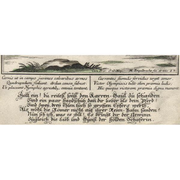 Martin Engelbrecht, Ludus Cursorius/ Das Mett Nennen, detail