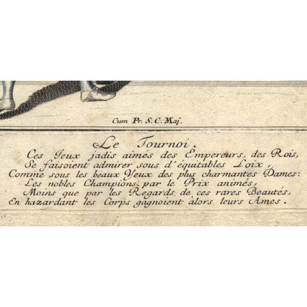 Justi praeludia belli/ Le Tournoi, detail