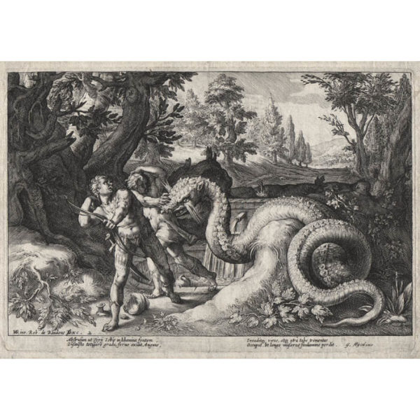 Goltzius, The Dragon Devouring the Companions of Cadmus from Ovid, Metamorphoses