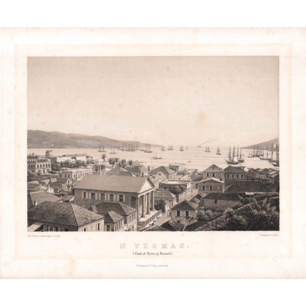 St. Thomas. (Parti af Byen og Havnen.) [St. Thomas. View of the City and the Harbor]