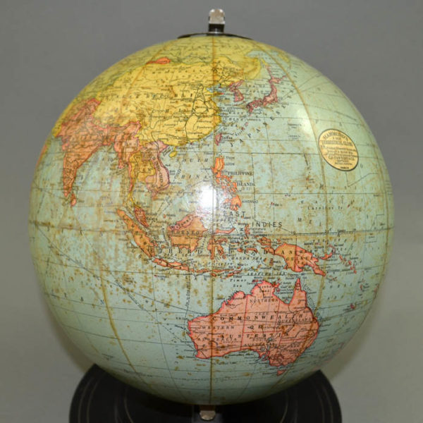 C.S. Hammond & Co. 9-Inch Terrestrial Table Globe, detail