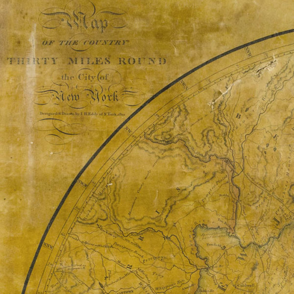 Map of the Country Thirty Miles Round the City of New York, detail