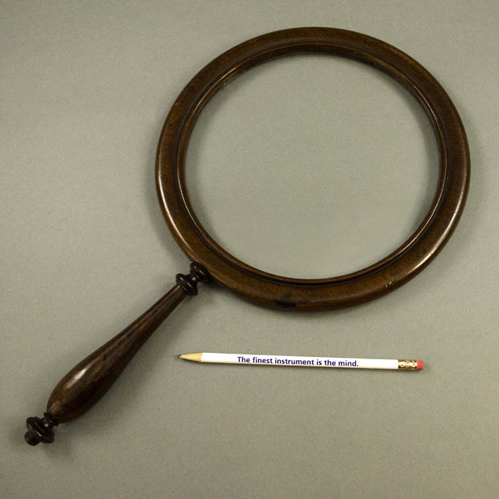 Scientific Instrument Magnifying Glass Library Gallery Antique 19th Century Sold George Glazer Gallery Antiques
