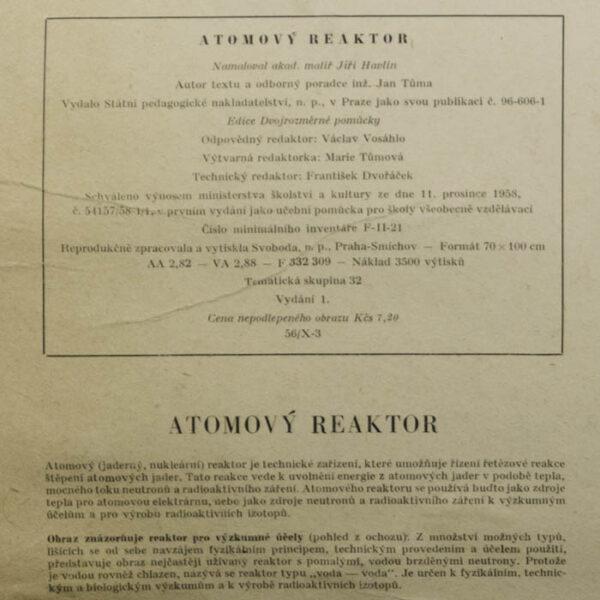 Atomový Reaktor [Atomic Reactor], label verso