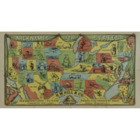 Nicknames of the States advertising pictorial map