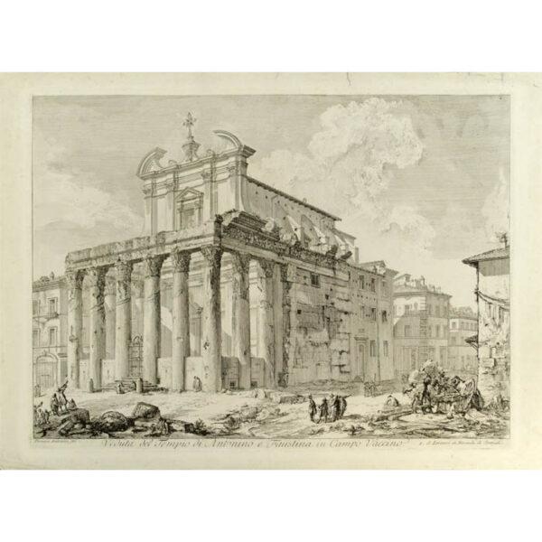 Piranesi, Veduta del Tempio di Antonino e Faustina in Campo Vaccino