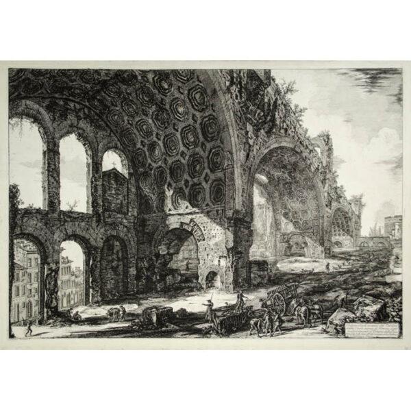 Veduta degli avanzi del Tablino della Casa Aurea di Nerone, detti volgarmente il Tempio della Pace