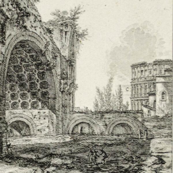 Veduta degli avanzi del Tablino della Casa Aurea di Nerone, detti volgarmente il Tempio della Pace, detail