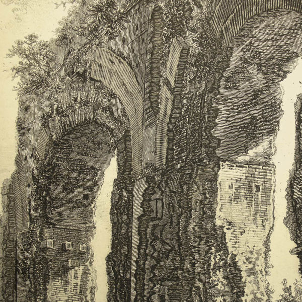 Piranesi, The Aqueduct of Nero, detail