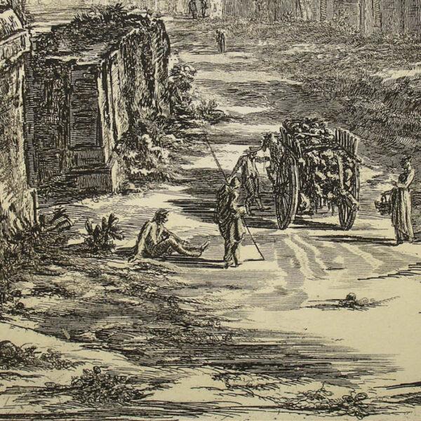 Piranesi, The Aqueduct of Nero, detail