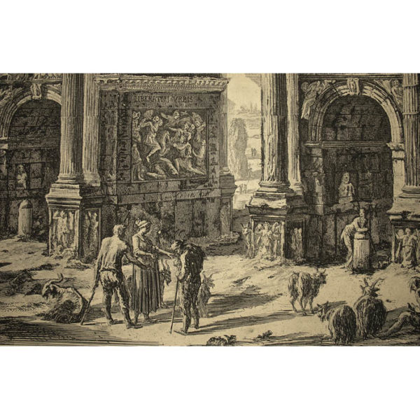 Piranesi, Arch of Constantine, detail