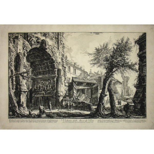 Piranesi, Veduta dell'Arco di Tito [View of the Arch of Titus]