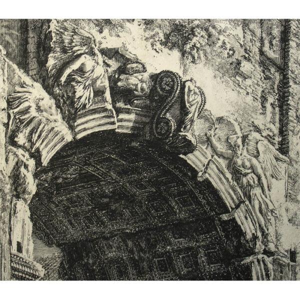 Piranesi, Veduta dell'Arco di Tito [View of the Arch of Titus], detail