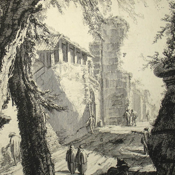 Piranesi, Veduta dell'Arco di Tito [View of the Arch of Titus], detail