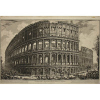 Piranesi, Veduta dell'Anfiteatro Flavio, detto il Colosseo [View of the Flavian Amphitheater, called the Colosseum]