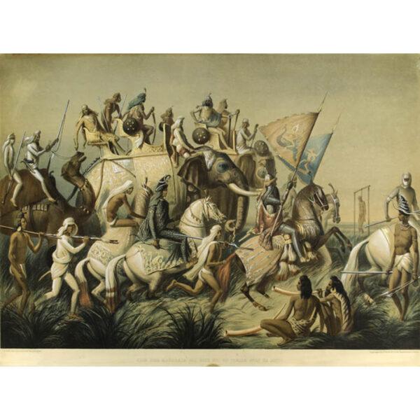 Soltykoff, Chir Sing Maharaja des Siks Roi du Panjab avec sa Suite (Lahore, Avril 1842.)