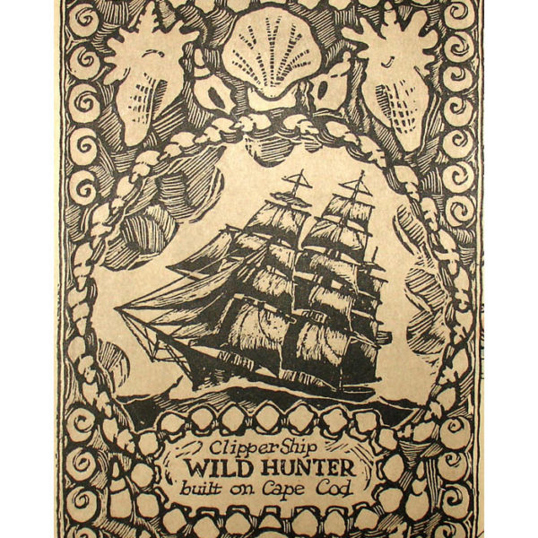 Coulton Waugh, The Map of Old Cape Cod – The land of Bold Explorers, Heroic Pilgrims, Hardy Seamen, Great Fisheries, and Famous Ships, detail