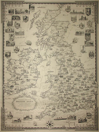 Ernest Dudley Chase, A Pictorial Map of the British Isles