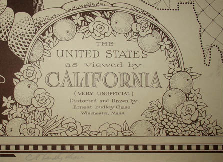 Ernest Dudley Chase, The United States as Viewed by California (Very Unofficial), detail