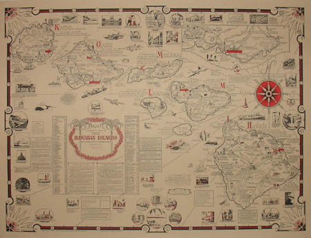 Ernest Dudley Chase, Aloha: A Pictorial Map of the Hawaiian Islands, the United States' Fiftieth State