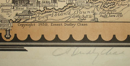 Ernest Dudley Chase, A Pictorial Map of the New England States, U.S.A., detail